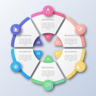 Círculo empresarial infografía