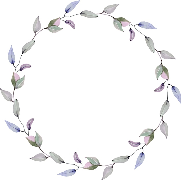 Círculo floral acuarela corona