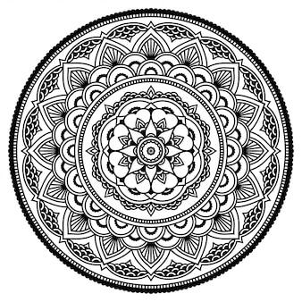 Círculo floral mandala