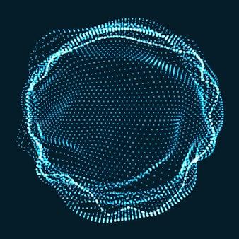 Círculo hecho de partículas de neón