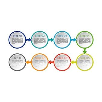 Círculo infográfico. diagramas de negocios, presentaciones y gráficos. antecedentes.