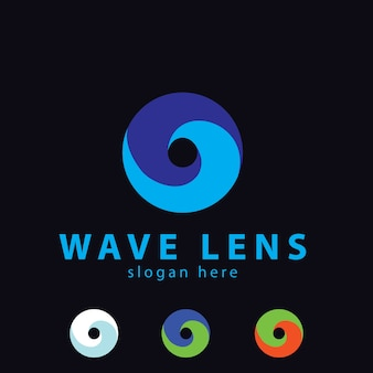 Círculo logotipo de wave lens