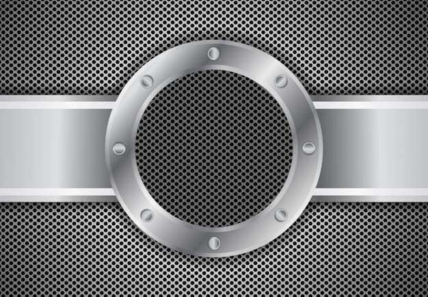 Círculo de metal 3 d fondo