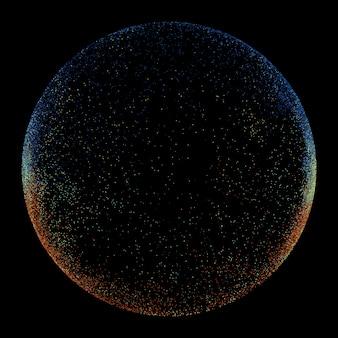 Círculo oscuro hecho de líneas onduladas