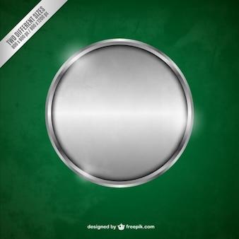 Círculo de plata metálico