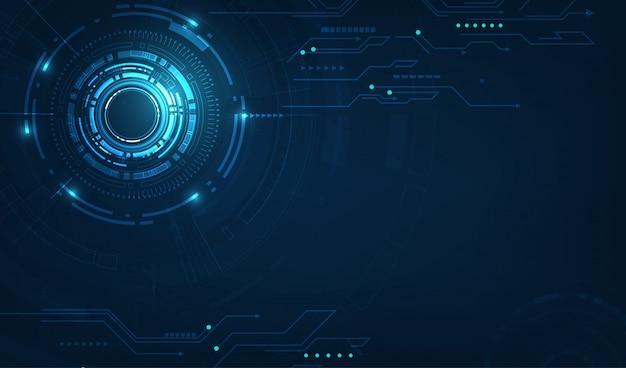 Círculo de tecnología vector y fondo de tecnología