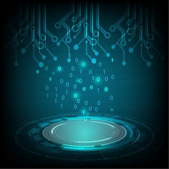 Círculo tecnológico y tecnología digital empresarial.