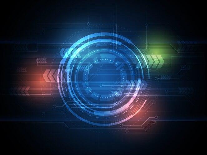 Círculo tecnológico y fondo de tecnología