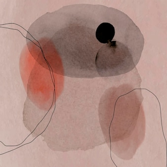 Círculos de acuarela abstractos coloridos