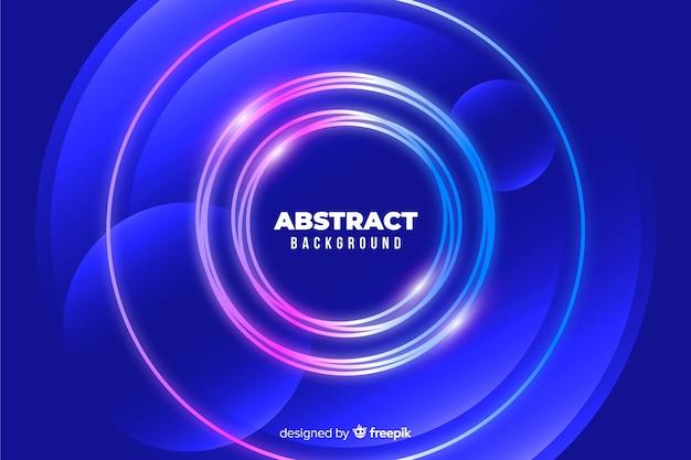 Círculos de colores de fondo estilo abstracto