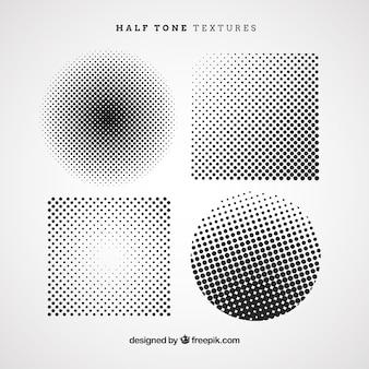 Círculos y cuadrados de medio tono
