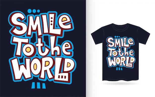 Cita de arte de letras de mano de motivación para camiseta