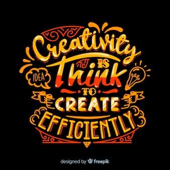 Cita de la creatividad fondo letras de estilo