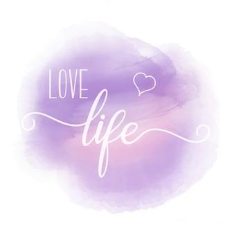 Cita de inspiración con acuarela púrpura