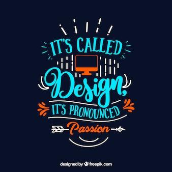 Cita de diseño gráfico en estilo hecho a mano