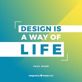 Cita de diseño gráfico en estilo plano