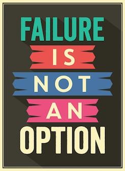 Cita de estilo vintage anti fracaso