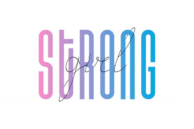 Cita inspiradora de la chica fuerte
