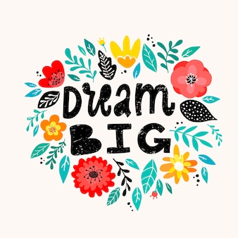 Cita inspiradora femenina 'soñar en grande'