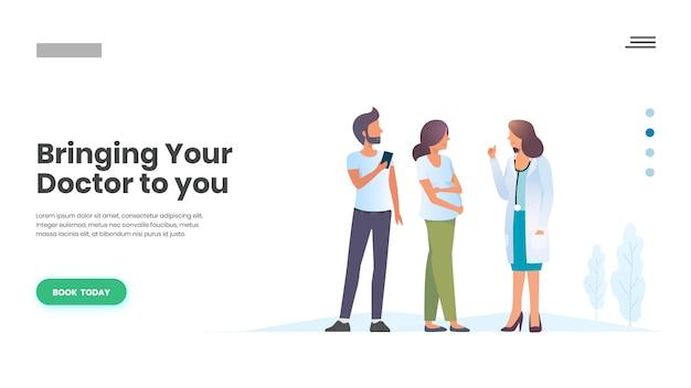 Cita médica en línea, cuidado familiar