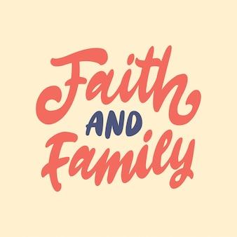 Cita de motivación de letras de mano para familia