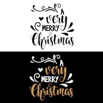 Cita de navidad de letras a mano