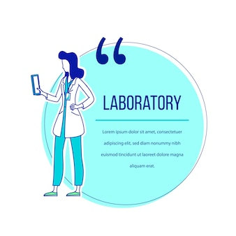 Cita de personaje plano de laboratorio
