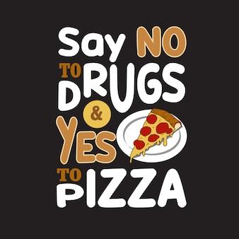 Cita de pizza y diciendo.