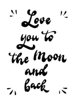 Cita de san valentín 'te amo hasta la luna y de regreso'