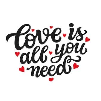 Cita de tipografía de amor