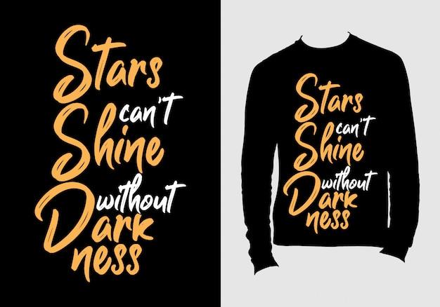 Citas de letras. diseño de camiseta de tipografía dibujada a mano