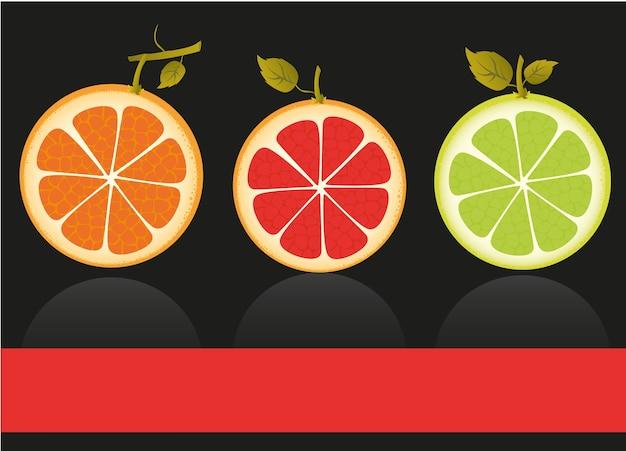 Los cítricos contienen naranja limón y pomelo