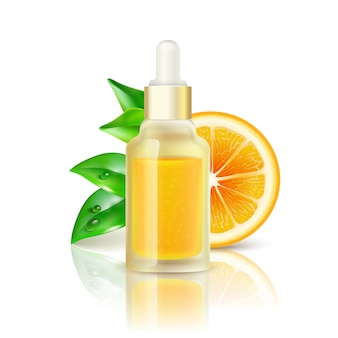 Citrus vitamin natural c imagen realista