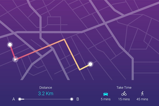 City street map navigation