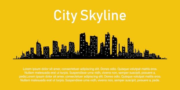 Ciudad en un amarillo.