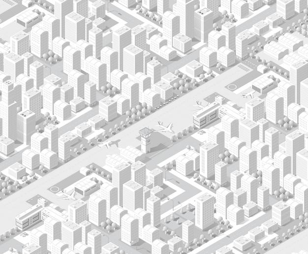 Ciudad en diseño blanco