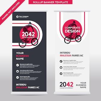 Ciudad de fondo negocio roll up design template.flag banner design. se puede adaptar al folleto, informe anual, revista, cartel, presentación corporativa, volante, sitio web