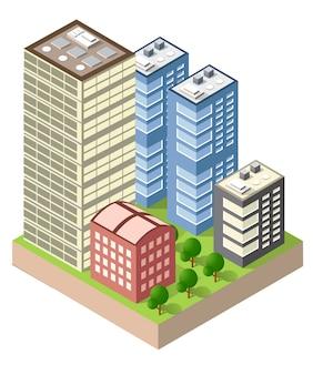 Ciudad isométrica urbana