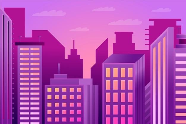 Ciudad urbana - fondo para videoconferencia