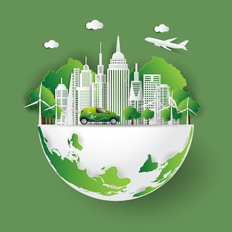 Ciudad verde salva el mundo
