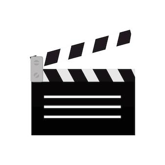 Clapper, película, película, icono, diseño