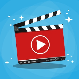 Claqueta con reproductor de video web