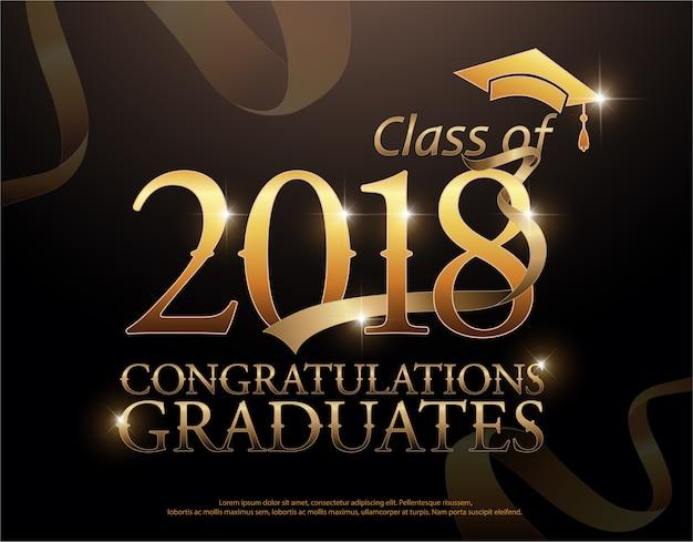 Clase de 2018 felicitaciones graduados