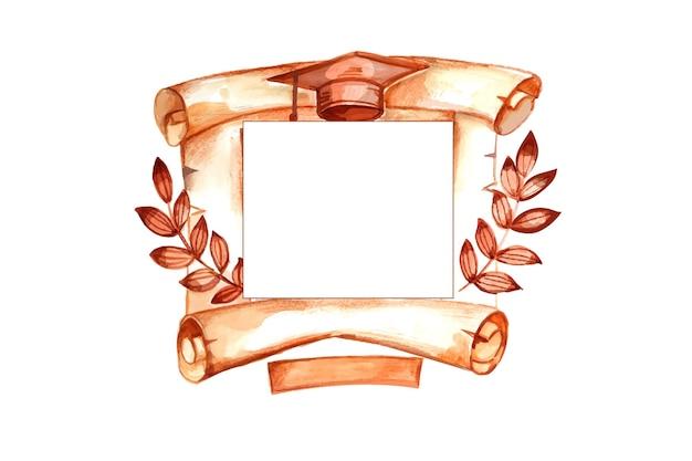 Clase de acuarela pintada a mano de 2021 ilustración
