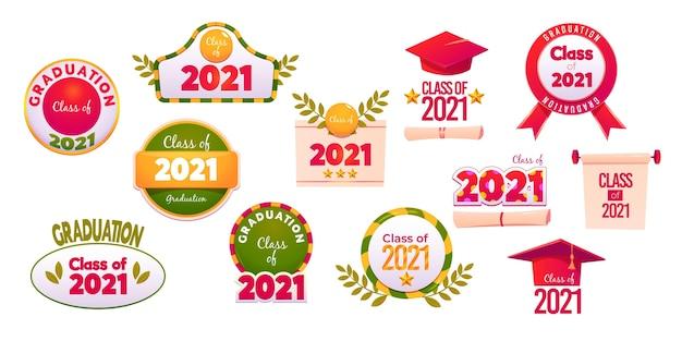 Clase de dibujos animados de la colección de etiquetas 2021