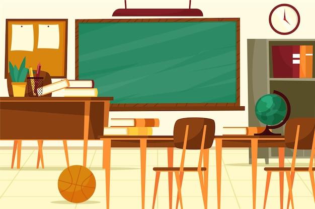 Clase de escuela vacía - fondo para videoconferencia