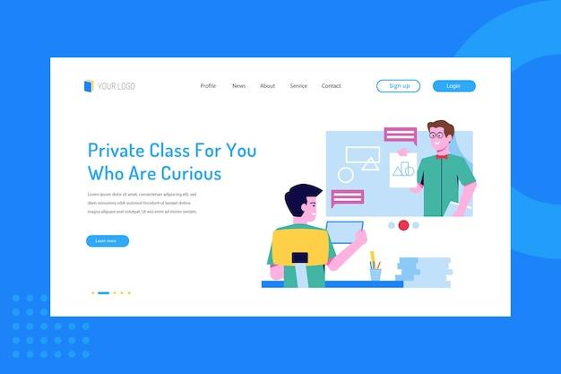 Clase privada para los que tienen curiosidad por la página de destino