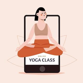 Clase de yoga en línea