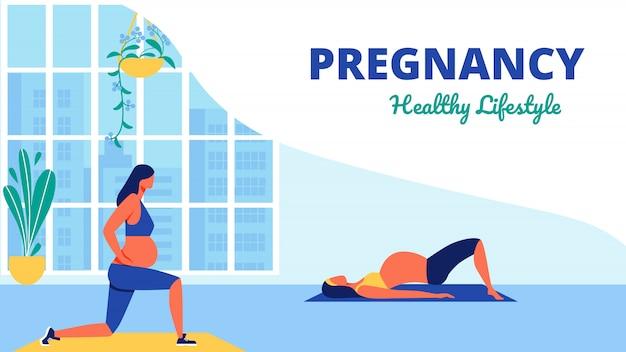Clase de yoga para mujeres embarazadas saludable lifistile