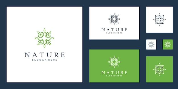 Clases de yoga, productos alimenticios naturales y orgánicos y conjunto de logotipos de envases